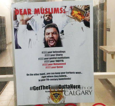 Posters placed at the University of Calgary