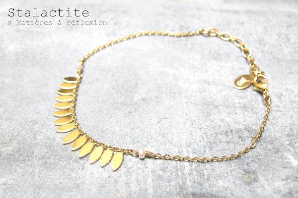Bracelet Stalactite Paris doré