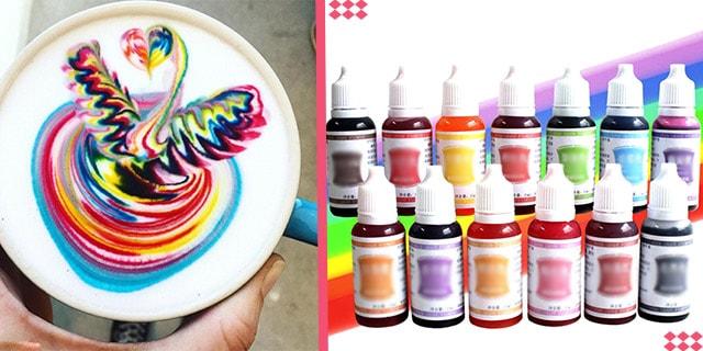 kahve süslemede gıda boyası kullanımı