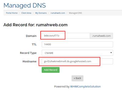 Cara Membuat dan Mengatur Custom Domain TLD (Top Level Domain) Di Blogger