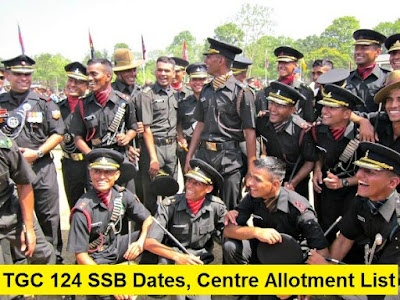 TGC & AEC 125 SSB Dates, Centre Allotment List