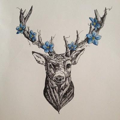 Super lovely deer tattoos