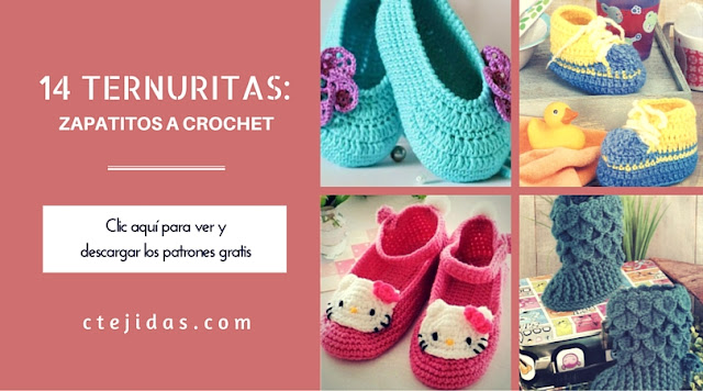 14 Ternuritas: Zapatitos de Bebé a Crochet o Ganchillo