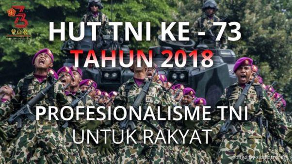 Ucapan HUT TNI ke 73