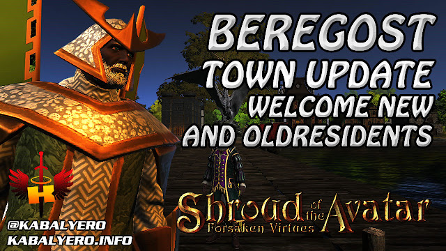Beregost Town Update - Welcome New & Old Residents 🏠 Shroud Of The Avatar Town Check