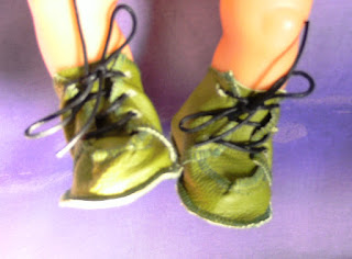 Dolls lace up shoes in Dottie's Dolls clothes