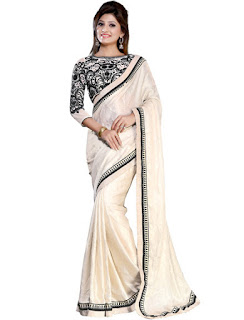 Latest Satin Saree Designs 2015