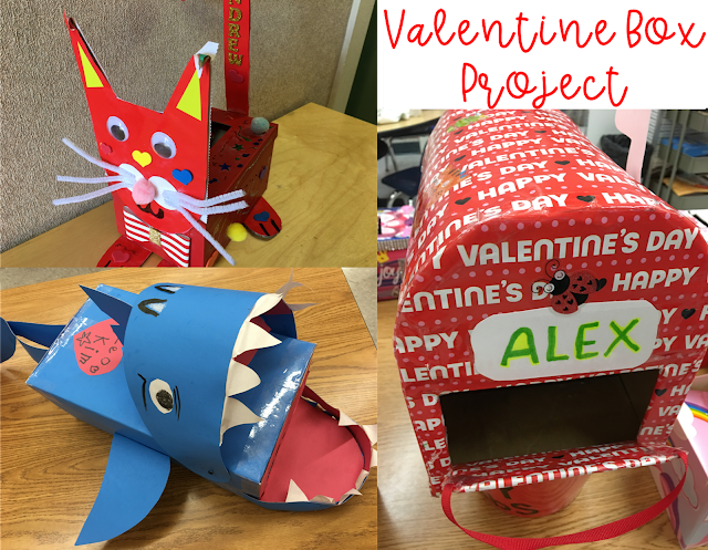 Student valentine box homework project