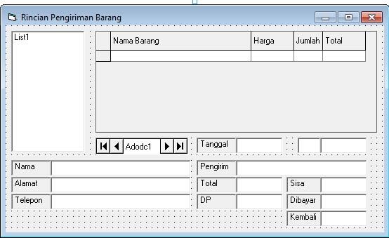 download Coding Program Pengirim dan Pesanan Barang vb6