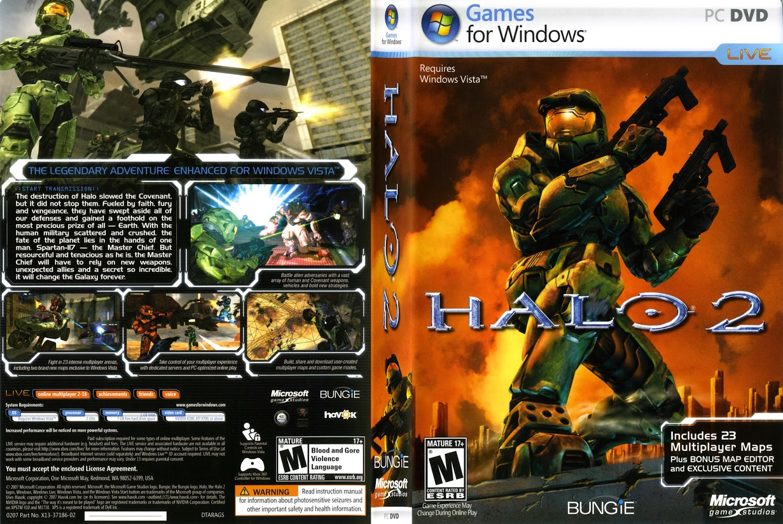 Halo 2 PC DVD Capa
