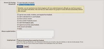 Cara Nonaktifkan Akun Facebook Sementara atau Secara Permanen