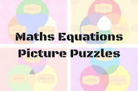 Mathematics Equations Circle Picture Puzzles for Kids with answers