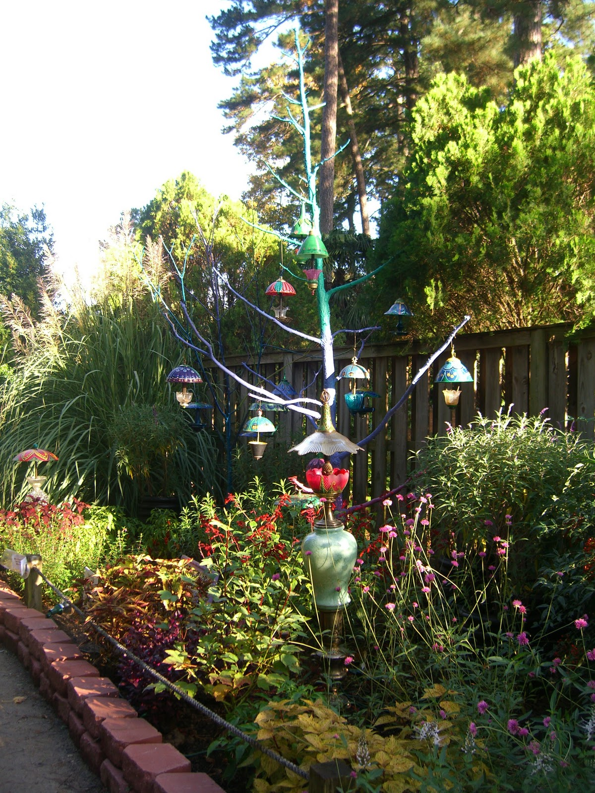 The Working Home Keeper: Garden Art Using Recycled Lamps