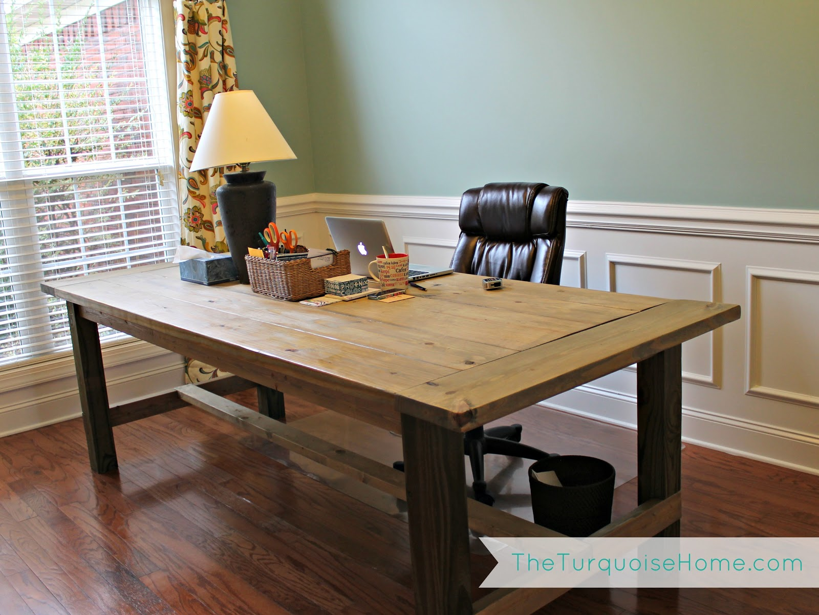 Farmhouse Dining Room Table Plans How To Hang A Heavy Mirror And Office Updates The