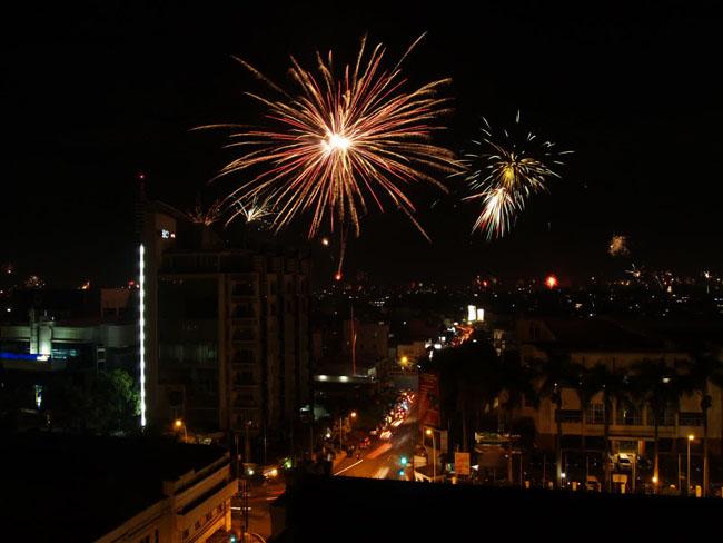 Perayaan Tahun baru di bandung