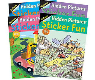 Visual attention activity using hidden pictures books