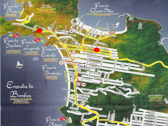 Mapa de Bombinhas