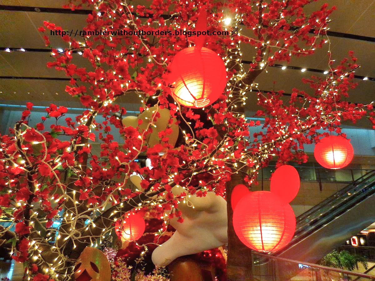 Chinese lanterns, Singapore Changi Airport