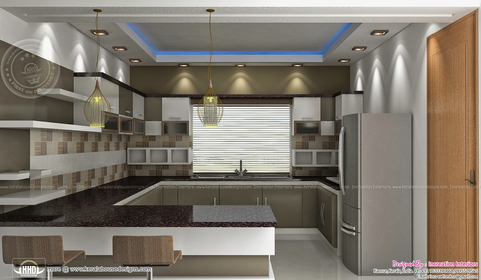 Home interior designs by increation kannur kerala home for Latest modern kitchen design in india