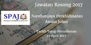 Suruhanjaya Perkhidmatan Awam Johor Jawatan Kosong Spaj 22 April 2017