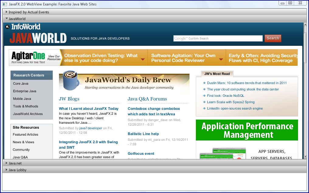 Rendering HTML Within JavaFX - DZone Java