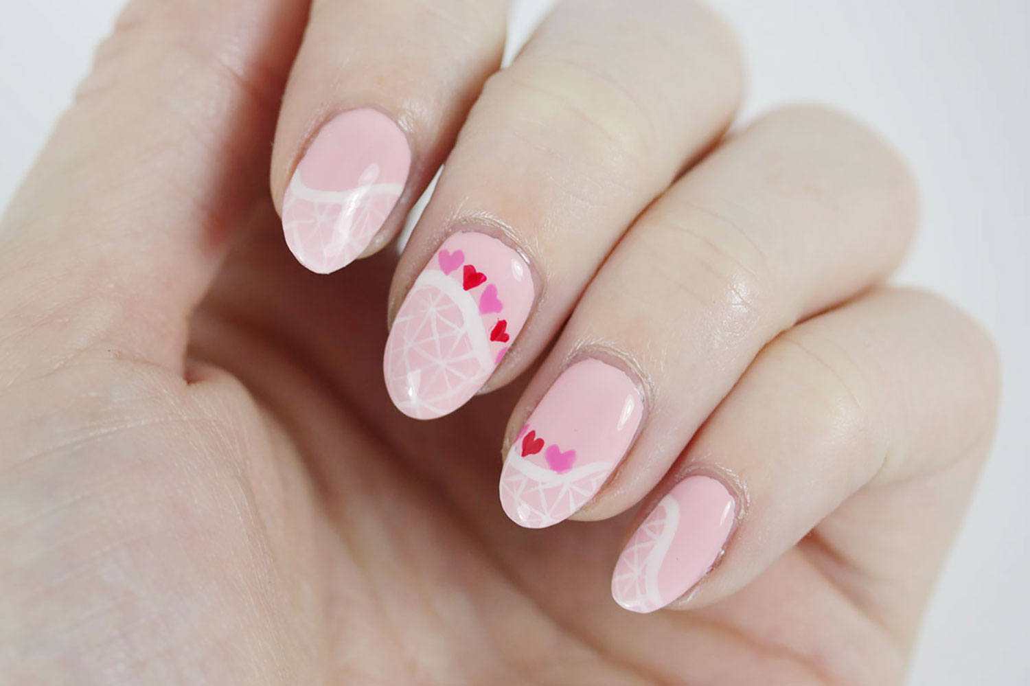 Rollercoaster of Love - Easy Valentine\'s Day Nail Art! - The Daily Nail