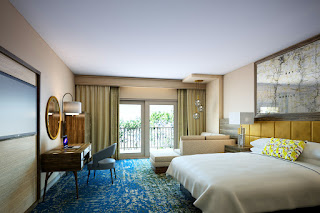 Artist's rendering of remodeled guest room at  Grand Hotel, Point Clear, Alabama