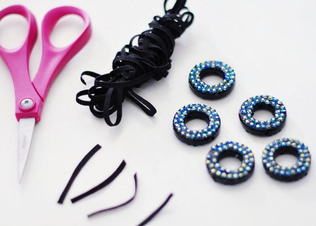 DIY Crystal Looping Circles Accessory, belt, necklace, hair, headband