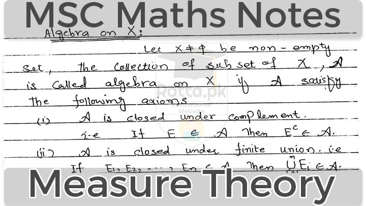 Measure Theory Notes of MSC Maths pdf download free