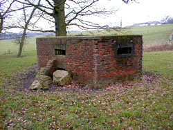 Photograph of a type 24 pillbox just off Swanley Bar Lane in the fields of the Royal Veterinary College Image from Jim Apps
