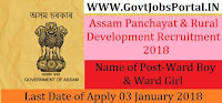 Assam Panchayat & Rural Development Recruitment 2018 – 328 Ward Boy & Ward Girl