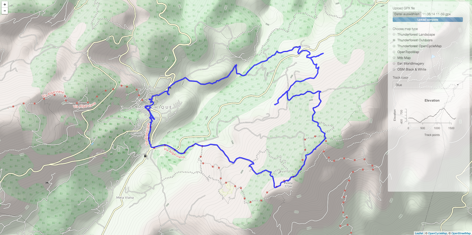 Plotting GPX tracks with Shiny and Leaflet | R-bloggers
