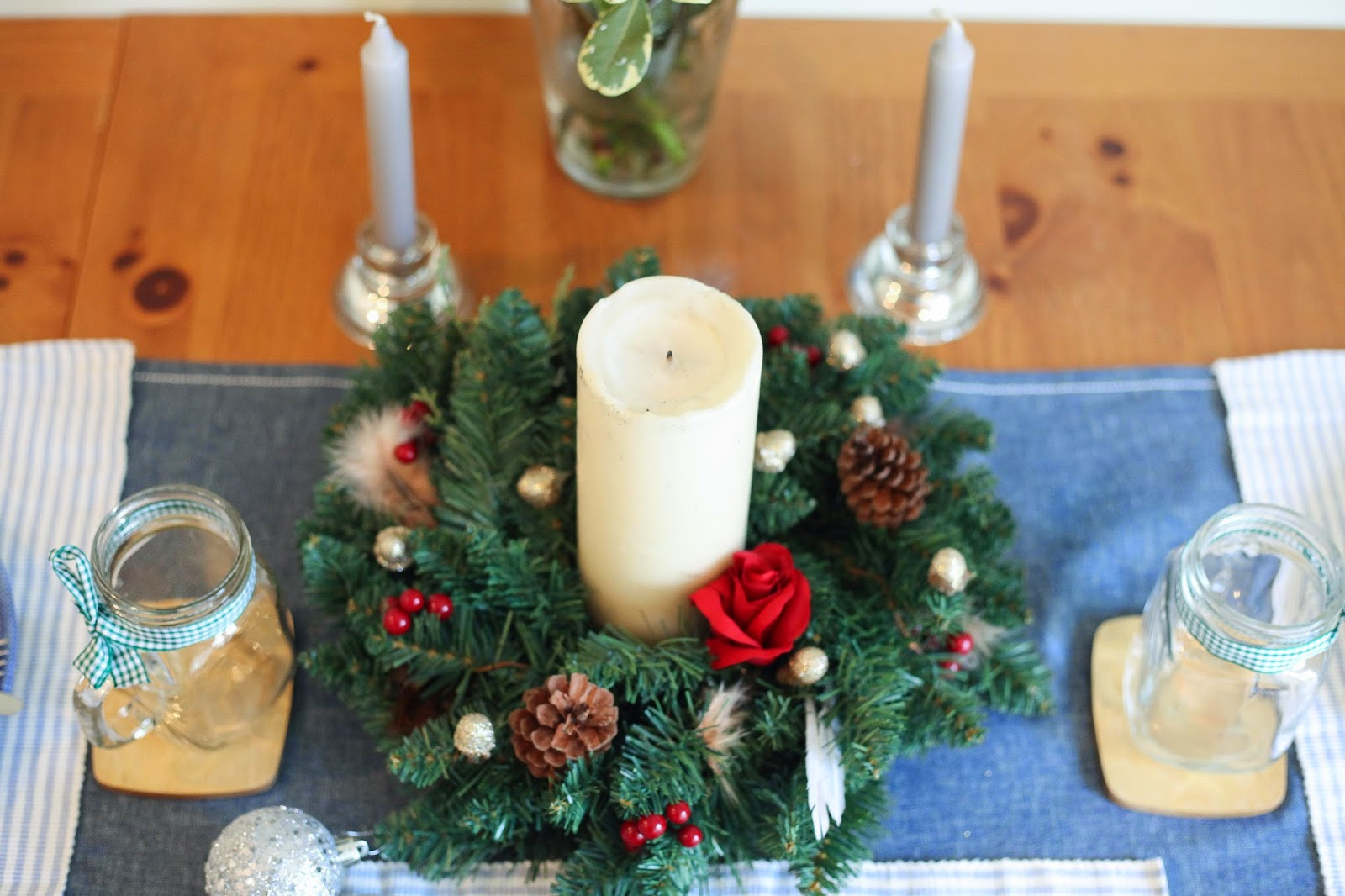 festive kitchen table
