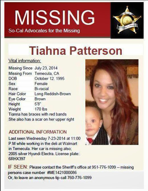 Missing Person Report: Have You Seen Her?   Menifee 24/7