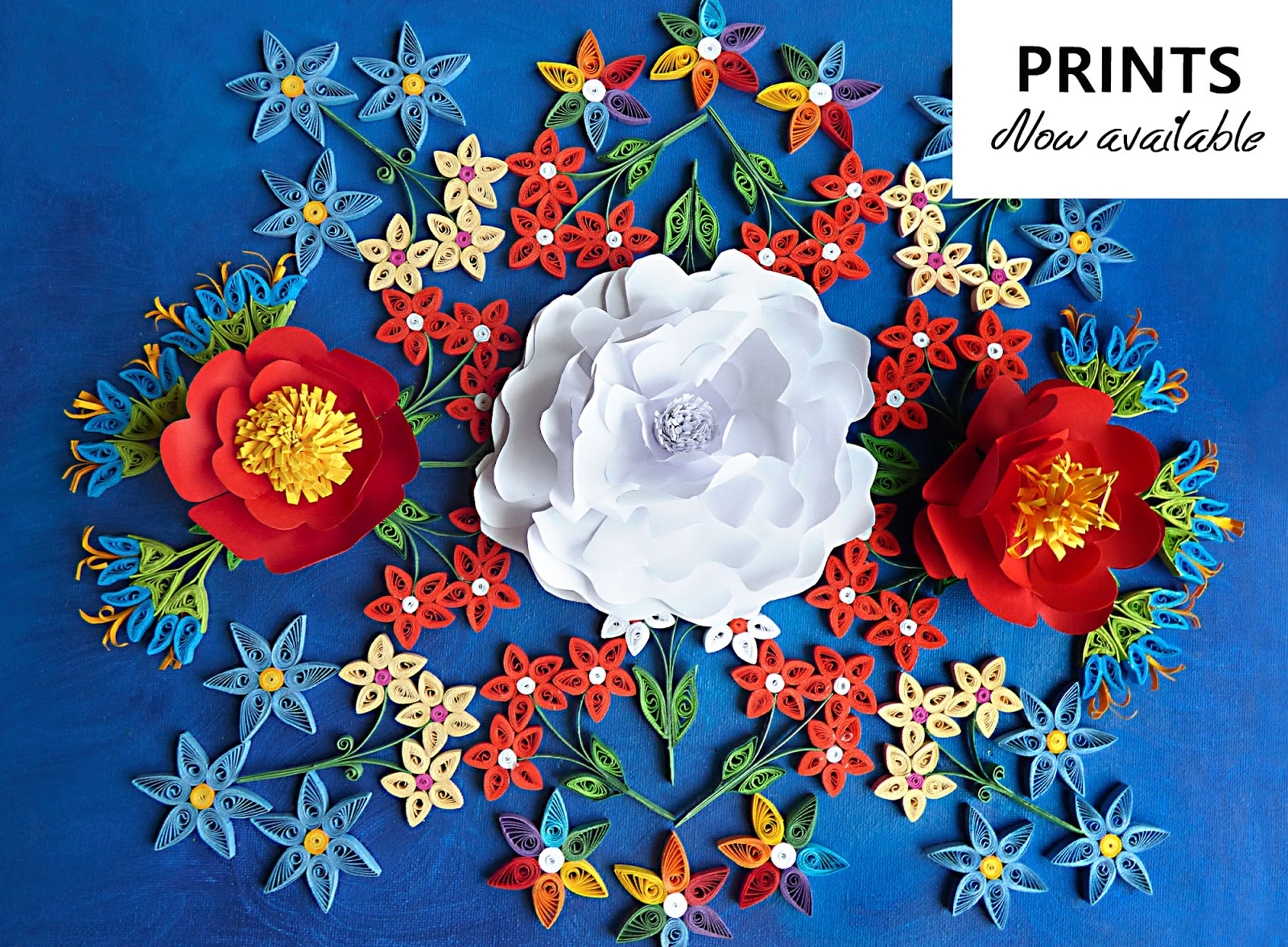 Mandala Flower Art Wall Poster Quilling Handmade Circul Magic