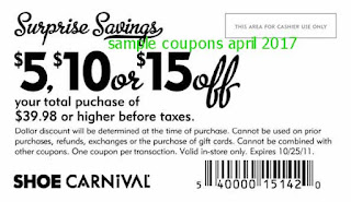 Shoe Carnival coupons april 2017