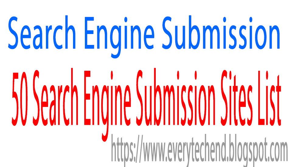 Free url Submission List | 50+ Search Engine Submission Sites List.