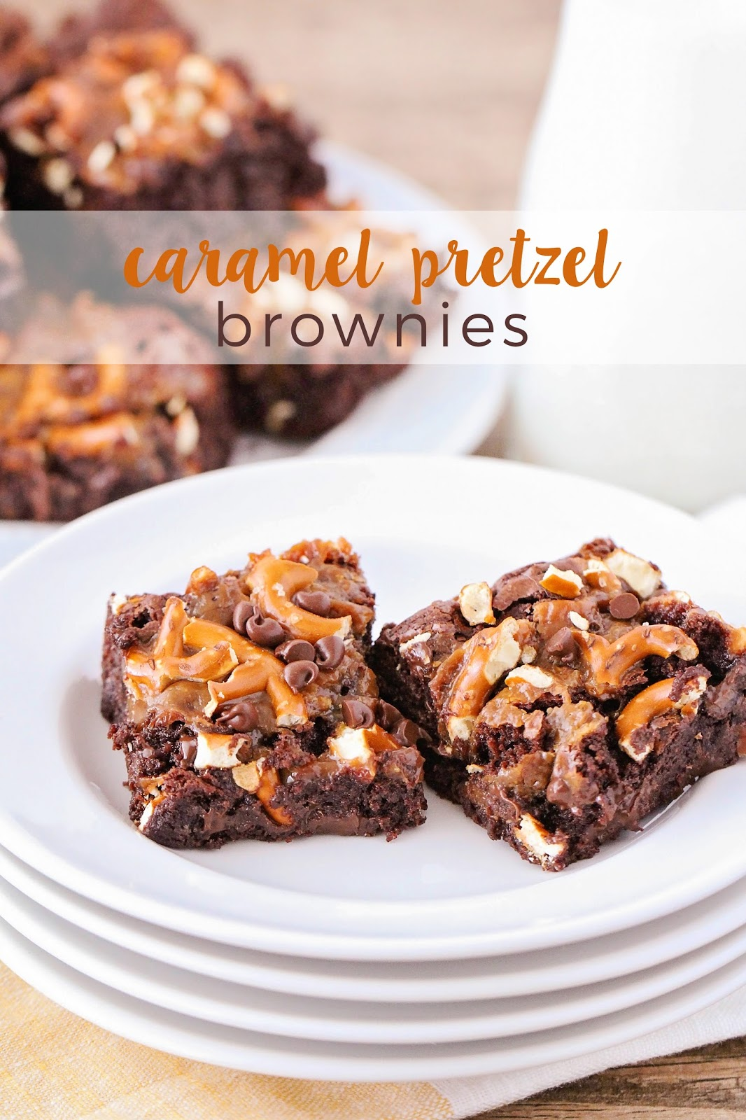 These rich and fudgy caramel pretzel brownies are the perfect mix of salty and sweet, and have an amazing texture. So chocolatey and delicious!