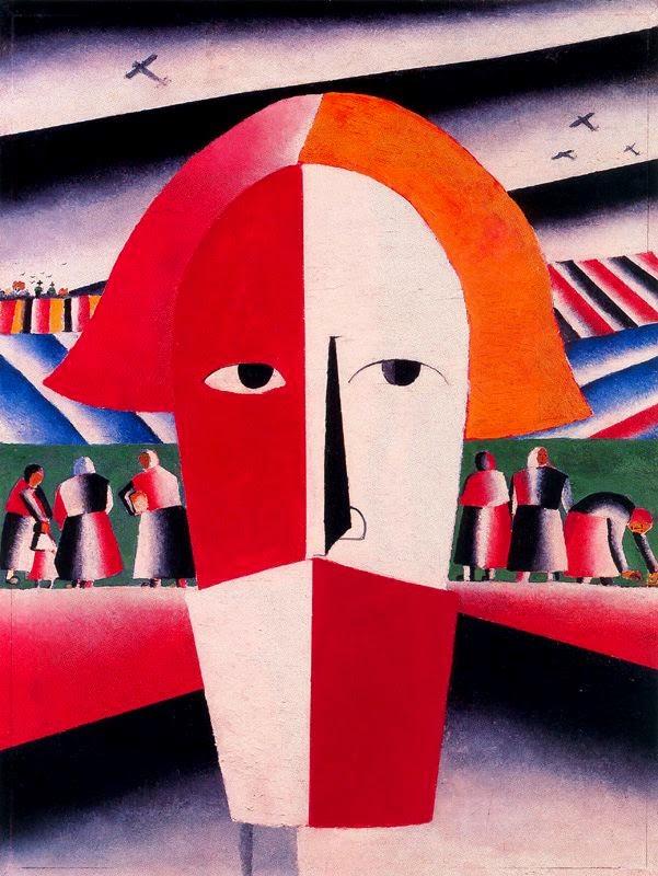 Cabeça de um Camponês - Kasimir Malevich e suas pinturas com elementos geométricos abstratos