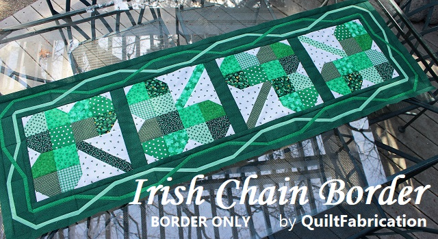 Irish Chain table runner border pattern by QuiltFabrication