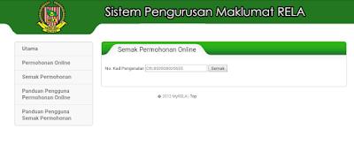 Permohonan Anggota RELA Melalui Portal MyRELA