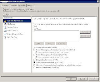 Cisco radius authentication settings for NPS