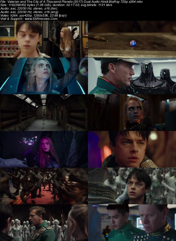 Valerian and the City of a Thousand Planets (2017) Hindi 480p 720p Dual Audio Download - Film4me