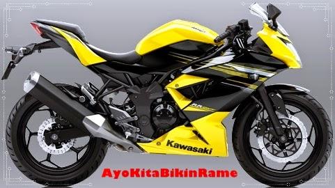 Gambar Foto Motor Kawasaki Ninja 250 RR Mono ABS Warna Kuning