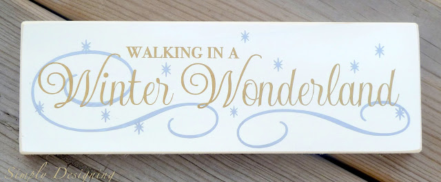 Winter Wonderland Vinyl Sign 01a O Come Let Us Adore Him Christmas Board + the BIGGEST Silhouette Sale EVER! {Black Friday Promotion} 11