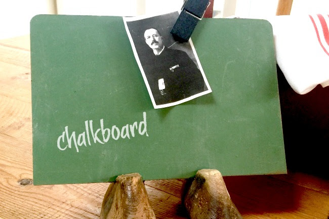How I Made a Chalkboard From Vintage Shoe Forms