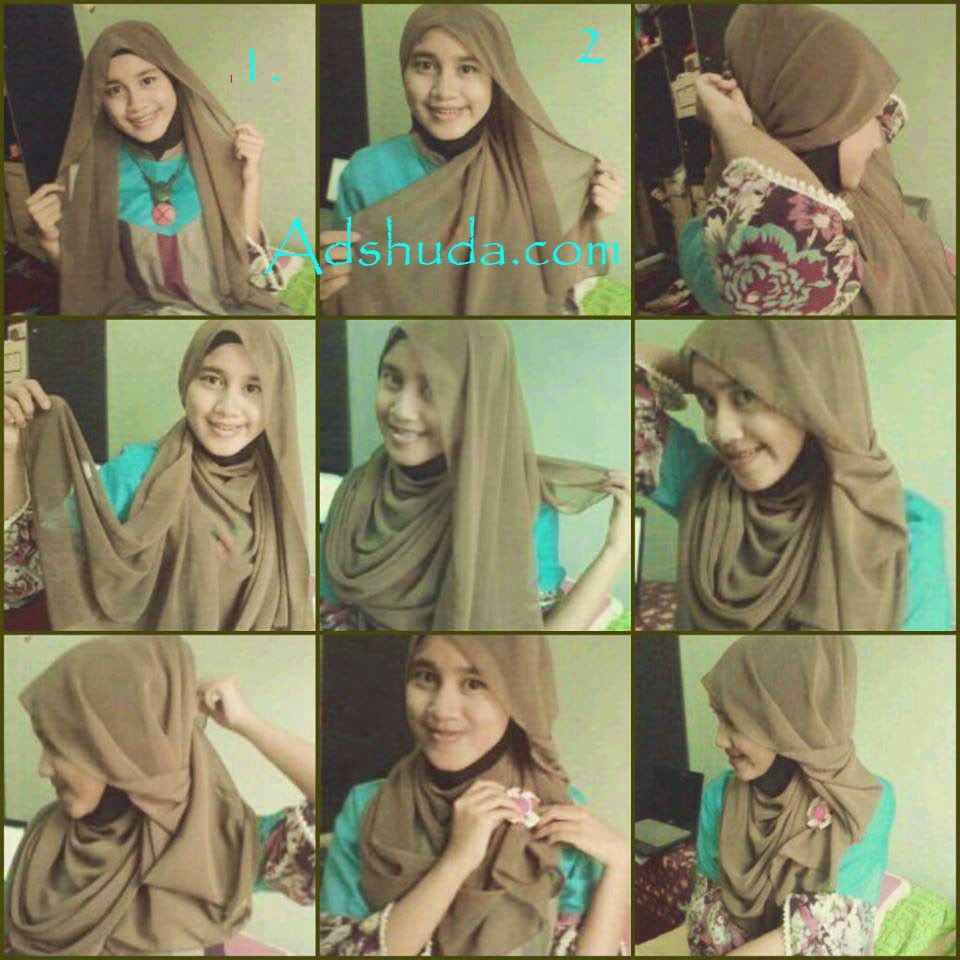 Tutorial Hijab Pashmina Simple Tebaru