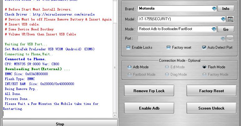 FRP Tool - Flash & Reset
