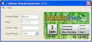 Software Pencetak Voucher untuk Usermanager Mikrotik
