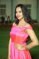 Actress Pujita Ponnada in beautiful red dress at Darshakudu music launch ~ Celebrities Galleries 011.JPG